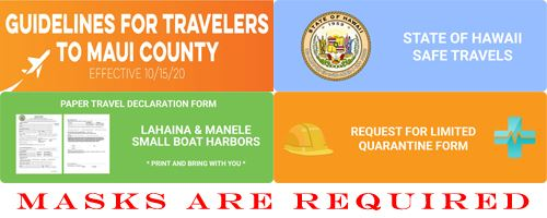Travel Guidelines to Maui County - Masks are Required
