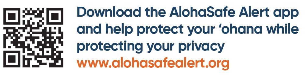 QR Code Aloha Safe Alert Opens in new window
